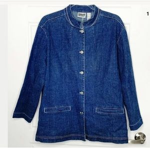 Chico's denim jacket size 3